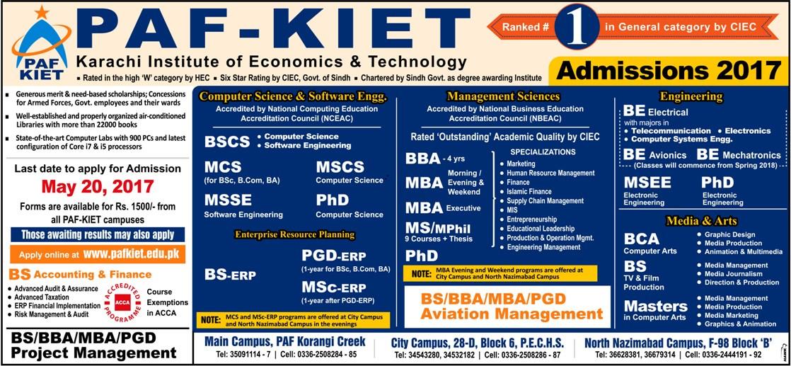 PAF-KEIT admission ad color